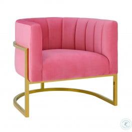 Magnolia Rose Pink Velvet Chair